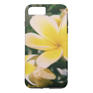 Coque iPhone 7 Plus Plumeria jaune