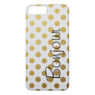 Coque iPhone 7 Plus Pois audacieux d'or