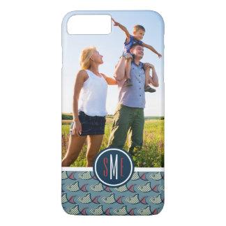 Coque iPhone 7 Plus Poissons de point de polka Pattern| votre photo et