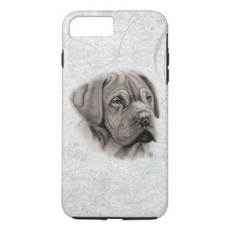 Coque iPhone 7 Plus Portrait français de mastiff