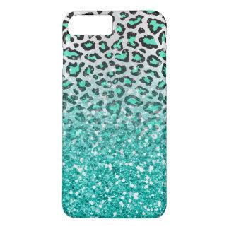 Coque iPhone 7 Plus poster de animal à la mode de léopard de vert