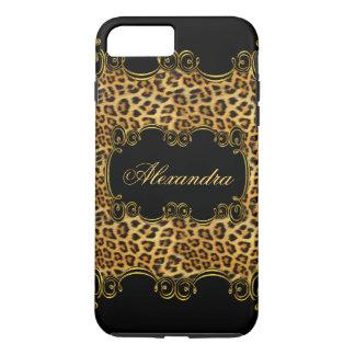 Coque iPhone 7 Plus Poster de animal majestueux 2 de noir d'or de