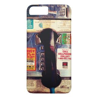 Coque iPhone 7 Plus Rétro téléphone payant public drôle des USA -
