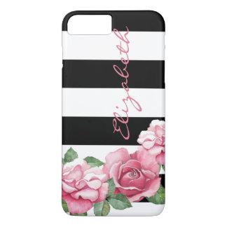 Coque iPhone 7 Plus Roses : iPhone peint moderne 7 de rose de rose
