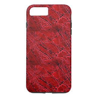 Coque iPhone 7 Plus ~ ROUGE SANG de ROYALE (une conception d'art