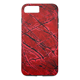 Coque iPhone 7 Plus ~ ROUGE SANG de ROYALE (une conception d'art