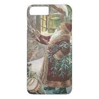 Coque iPhone 7 Plus Sac à arbre de Noël du père noël de cottage de