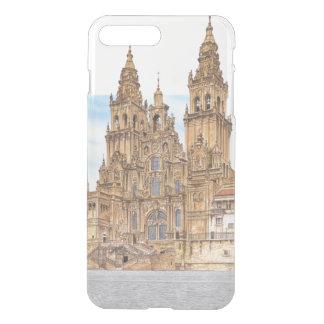Coque iPhone 7 Plus Saint-Jacques-de-Compostelle. Façade occidental.