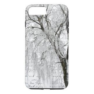 Coque iPhone 7 Plus Saule romantique d'hiver