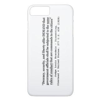 Coque iPhone 7 Plus Sécurité de décence et juge Louis Brandeis de