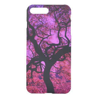Coque iPhone 7 Plus Sous l'arbre dans le rose et le pourpre