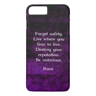 Coque iPhone 7 Plus Soyez citation inspirée notoire de Rumi