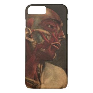 Coque iPhone 7 Plus Tête vintage, cou, et épaules de l'anatomie |