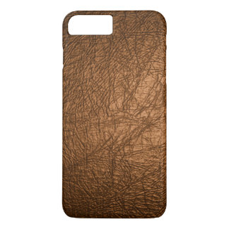 Coque iPhone 7 Plus texture en cuir brune