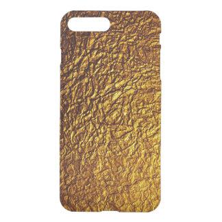 Coque iPhone 7 Plus textures d'or
