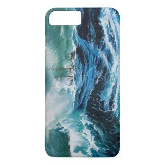 Coque iPhone 7 Plus Transportez-vous en mer dans la tempête/bleu