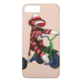 Coque iPhone 7 Plus Tricycle de singe de chaussette