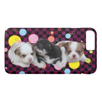 Coque iPhone 7 Plus Trois chiots mignons (chiens)