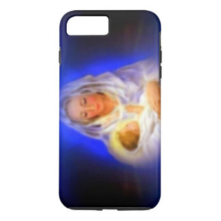 Coque iPhone 7 Plus Vierge Marie béni avec le halo en nuages