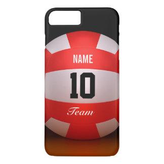 Coque iPhone 7 Plus Volleyball rouge fait sur commande
