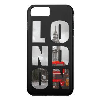 Coque iPhone 7 Plus Voyage dans la typographie de ville de Londres