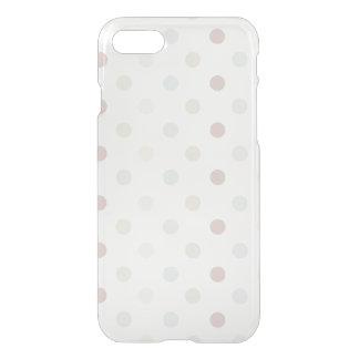 Coque iPhone 7 Point de polka pâle