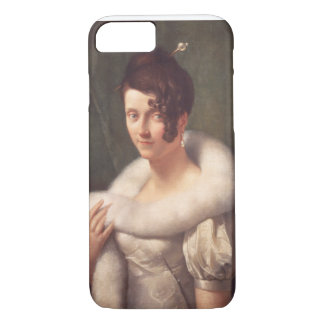 Coque iPhone 7 Portrait d'une femme avec une goupille de cheveux