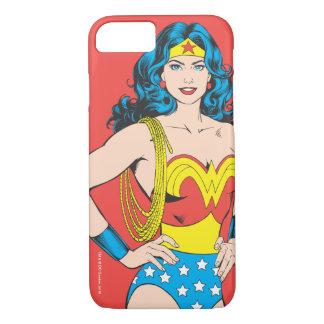 Coque iPhone 7 Pose vintage de la femme de merveille   avec le