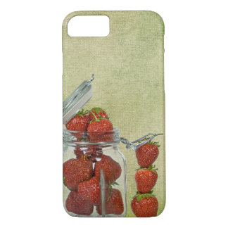 Coque iPhone 7 pot de fraise