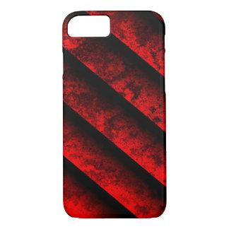 Coque iPhone 7 Rayé rouge et noir