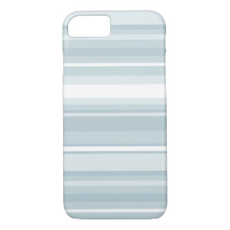 Coque iPhone 7 Rayures de bleu glacier