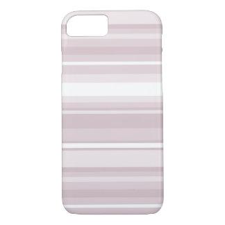 Coque iPhone 7 Rayures de rose de quartz rose