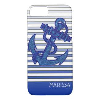 Coque iPhone 7 Rayures nautiques d'Ombre de bateau à voile