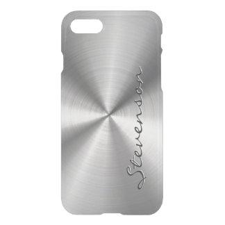 Coque iPhone 7 Regard radial métallique personnalisé d'acier