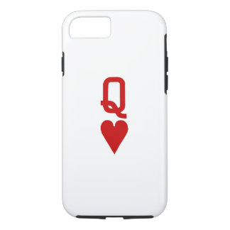Coque iPhone 7 Reine de cas dur de l'iPhone 7 de coeurs