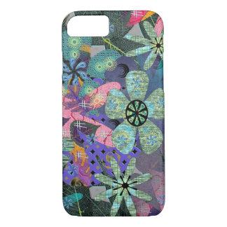 Coque iPhone 7 Rétro cas de l'iPhone 7 de fleurs