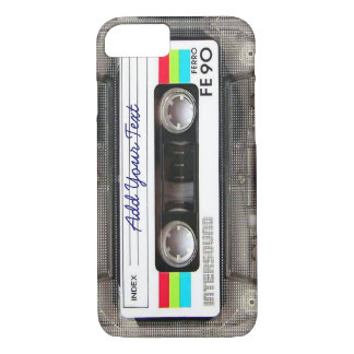 Coque iPhone 7 Rétro enregistreur à cassettes drôle de musique du