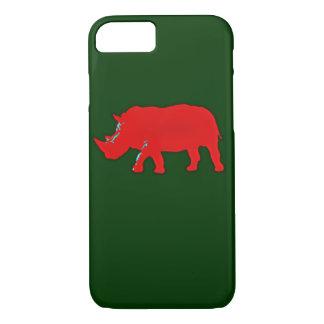 Coque iPhone 7 rhinocerus rouge de l'Afrique