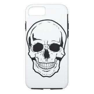 Coque iPhone 7 Rire noir de crâne