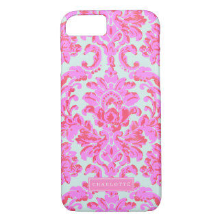 Coque iPhone 7 Roses indien Girly et damassé baroque en bon état