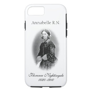 Coque iPhone 7 Rossignol-Infirmière de Florence+ Nom