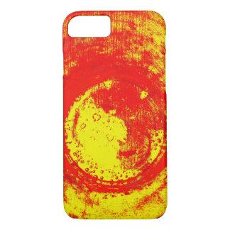 Coque iPhone 7 rouge-jaune
