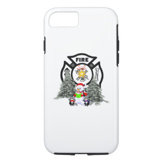 Coque iPhone 7 Scène de Noël de département du feu