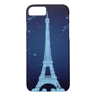 Coque iPhone 7 Scène de nuit de Tour Eiffel