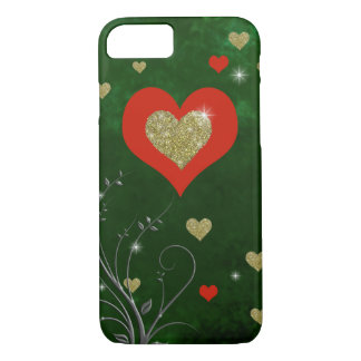 Coque iPhone 7 sentiments romantiques d'amour (coeurs)