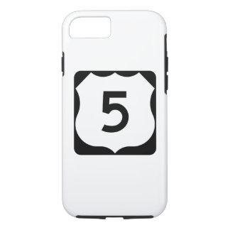 Coque iPhone 7 Signe de l'itinéraire 5 des USA