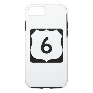 Coque iPhone 7 Signe de l'itinéraire 6 des USA