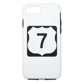 Coque iPhone 7 Signe de l'itinéraire 7 des USA