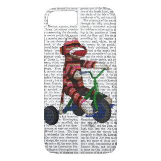 Coque iPhone 7 Singe de chaussette sur le tricycle