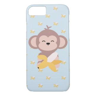 Coque iPhone 7 Singe mignon de Kawaii avec le cas de l'iPhone 7